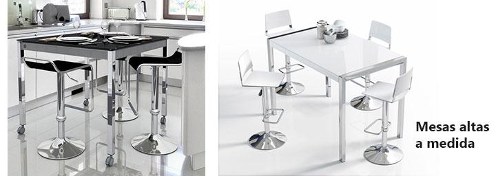 Sillas altas para cocina cocina pequena suelo losas barra blanca sillas altas ideas sillas - Sillas altas de cocina ...