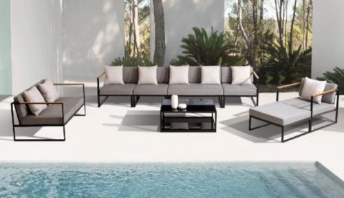 Set de sofas para exterior y jardin