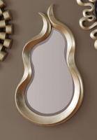 Espejo con marco de forma curva - Marco hecho de poliresina.