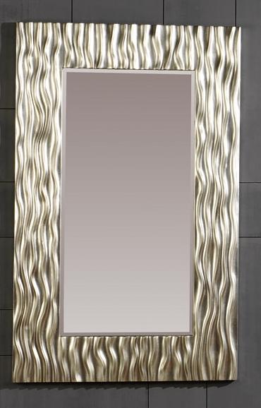 Espejo con marco de poliresina rectangular - Marco hecho de poliresina.
