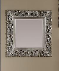 Espejo cuadrado con marco de poliresina  - Marco hecho de poliresina.