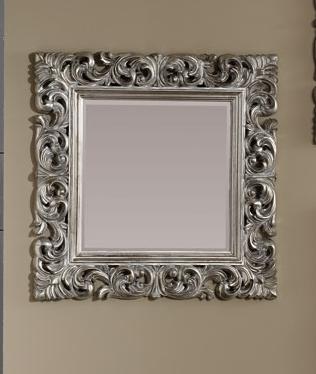 Espejo cuadrado con marco de poliresina for Espejo cuadrado sin marco