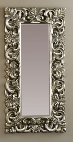 Espejo plateado de poliresina rectangular