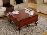 Mesa cuadrada con cajón -
