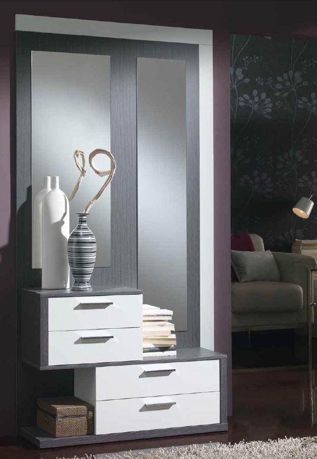 Recibidor hall unit revistero espejo lleida salamanca for Espejos para hall de entrada