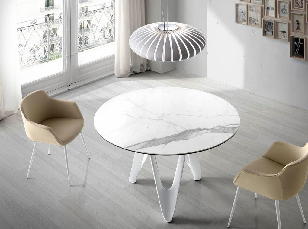 Mia home mesa de comedor b063 marmol - Mesas de marmol y cristal ...