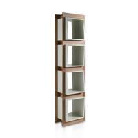Estanteria Loft Tendencia 829DP - Estantería de madera chapada en nogal y cajones de DM lacados