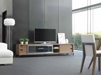 Mueble de TV LE30 - Mueble TV de madera chapada en nogal
