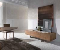 Mueble de TV LE312 - Mueble TV de madera chapada en nogal