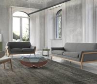 Sofá tapizado 2 o 3 puestos DUO 2581 - Sofás tapizados con estructura en madera de nogal macizo