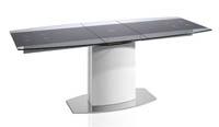 Mesa de comedor extensible en cristal templado - Mesa de comedor extensible en cristal templado