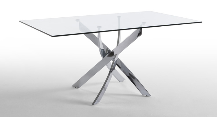 Mesa comedor patas de acero cromado