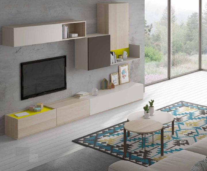 Moderno mueble de TV propuesta 41 - Moderno mueble de TV propuesta 41, fabricadas en DM y chapado en melamina con efecto natural o en terminaciones lacadas