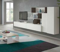 Moderno mueble de TV propuesta 52 - Moderno mueble de TV propuesta 52, fabricadas en DM y chapado en melamina con efecto natural o en terminaciones lacadas