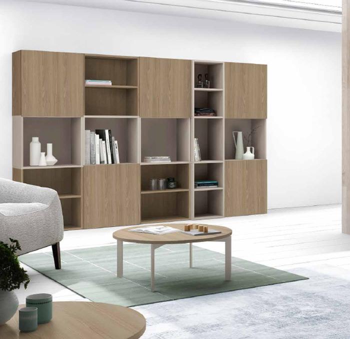 Moderno librero para salon for Librerias para salones modernos