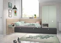 Dormitorio Origami Composición 10 - Dormitorio Origami Composición 10, Colección de mobiliario Juvenil
