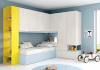 Dormitorio Origami Composición 12 - Dormitorio Origami Composición 12, Colección de mobiliario Juvenil