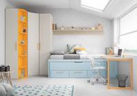 Dormitorio Origami Composición 14 - Dormitorio Origami Composición 14, Colección de mobiliario Juvenil