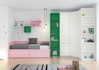 Dormitorio Origami Composición 16 - Dormitorio Origami Composición 16, Colección de mobiliario Juvenil