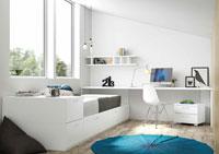 Dormitorio Origami Composición 2 - Dormitorio Origami Composición 2, Colección de mobiliario Juvenil