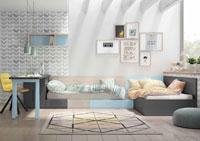Dormitorio Origami Composición 20 - Dormitorio Origami Composición 20, Colección de mobiliario Juvenil