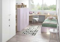 Dormitorio Origami Composición 21 - Dormitorio Origami Composición 21, Colección de mobiliario Juvenil
