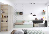Dormitorio Origami Composición 22 - Dormitorio Origami Composición 22, Colección de mobiliario Juvenil
