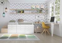 Dormitorio Origami Composición 23 - Dormitorio Origami Composición 23, Colección de mobiliario Juvenil