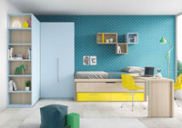 Dormitorio Origami Composición 27 - Dormitorio Origami Composición 27, Colección de mobiliario Juvenil