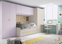 Dormitorio Origami Composición 29 - Dormitorio Origami Composición 29, Colección de mobiliario Juvenil