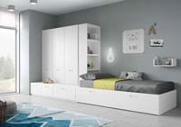 Dormitorio Origami Composición 3 - Dormitorio Origami Composición 3, Colección de mobiliario Juvenil