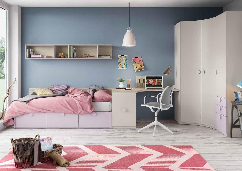 Dormitorio Origami Composición 32 - Dormitorio Origami Composición 32, Colección de mobiliario Juvenil