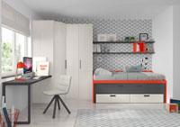 Dormitorio Origami Composición 37 - Dormitorio Origami Composición 37, Colección de mobiliario Juvenil