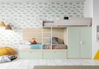 Dormitorio Origami Composición 41 - Dormitorio Origami Composición 41, Colección de mobiliario Juvenil