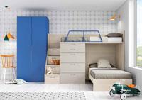 Dormitorio Origami Composición 44 - Dormitorio Origami Composición 44, Colección de mobiliario Juvenil
