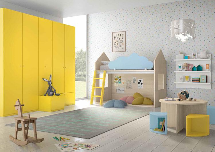 Dormitorio Origami Composición 46 - Dormitorio Origami Composición 46, Colección de mobiliario Juvenil