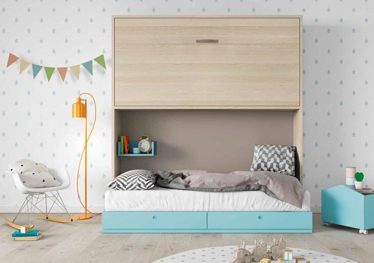 Dormitorio Origami Composición 49 - Dormitorio Origami Composición 49, Colección de mobiliario Juvenil