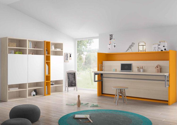 Dormitorio Origami Composición 50 - Dormitorio Origami Composición 50, Colección de mobiliario Juvenil