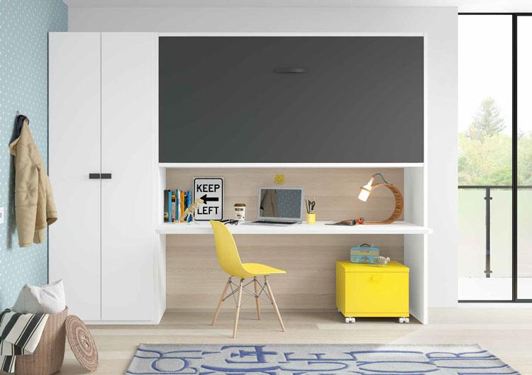 Dormitorio Origami Composición 52 - Dormitorio Origami Composición 52, Colección de mobiliario Juvenil