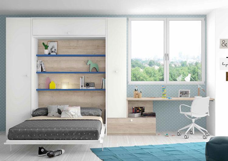 Dormitorio Origami Composición 53 - Dormitorio Origami Composición 53, Colección de mobiliario Juvenil