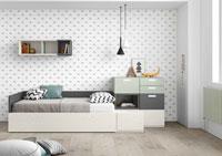 Dormitorio Origami Composición 9 - Dormitorio Origami Composición 9, Colección de mobiliario Juvenil
