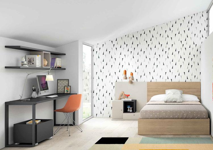 Dormitorio Origami Composición 56 - Dormitorio Origami Composición 56, Colección de mobiliario Juvenil