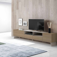 Moderno mueble de TV propuesta 50 - Moderno mueble de TV propuesta 50, fabricadas en DM y chapado en melamina con efecto natural o en terminaciones lacadas