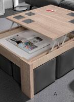 Mesas de centro con tablero elevable C-4