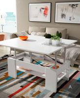Mesas de centro-comedor con tablero elevable C-9 - Mesas de centro-comedor con tablero elevable C-9, varios modelos