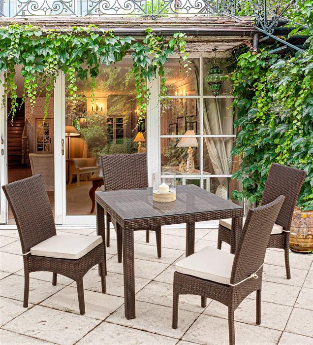 Juego comedor 4 personas jardin terraza for Comedores exteriores para terrazas