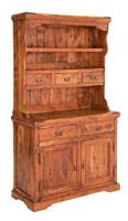 Aparador inferior y buffet superior Chateaux en madera rustica