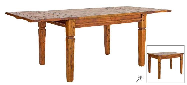 Mesa de comedor extensible chateaux mia home - Mesa comedor madera rustica ...