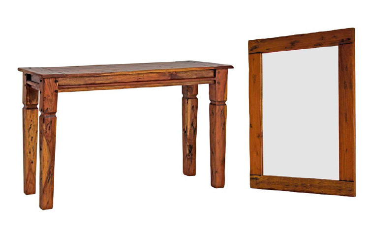 Consola o espejo Chateaux en madera rustica - Consola o espejo Chateaux en madera rustica