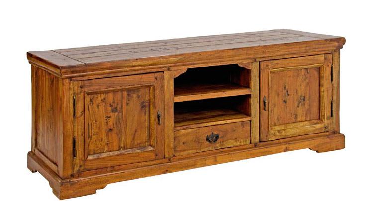 Juego de salón Chateaux en madera rustica - Juego de salón Chateaux